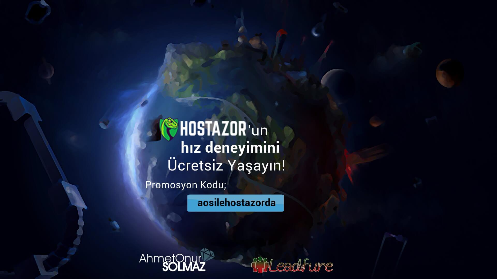 Hostazor'un Hız Deneyimini Ücretsiz Yaşayın