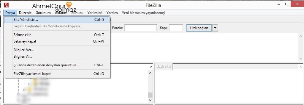 FTP Klasör Alınamadı Hatası ahmetonursolmaz.com.tr