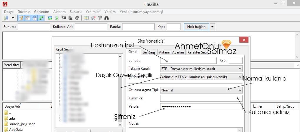 FTP Klasör Alınamadı Hatası