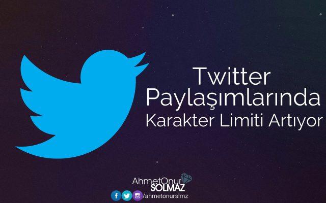 Twitter Paylaşımlarında Karakter Limiti Artıyor