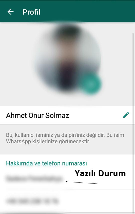 WhatsApp Yazılı Durum Özelliği Tekrar Geliyor