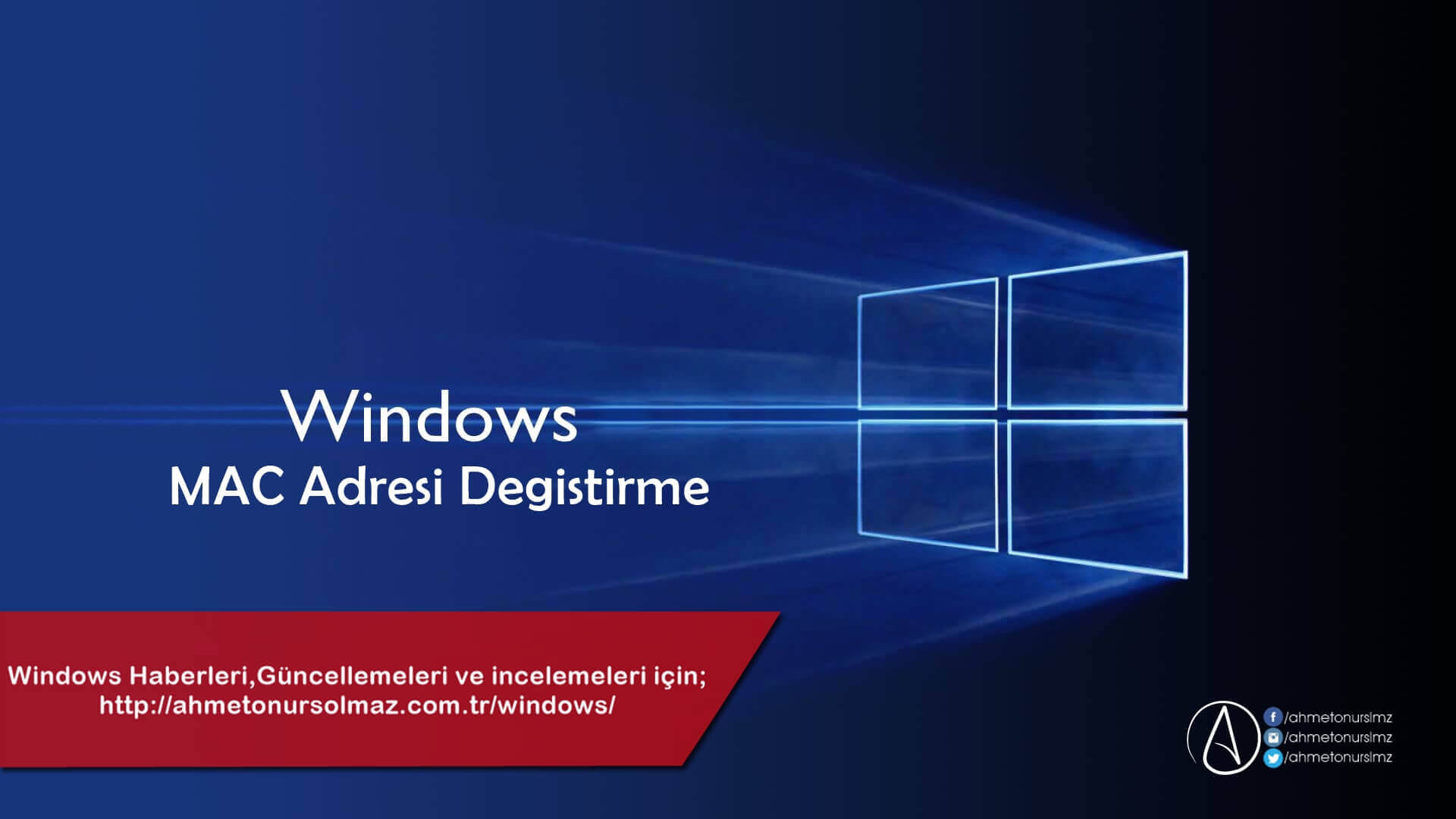 Windows 'da MAC Adresi Değiştirme