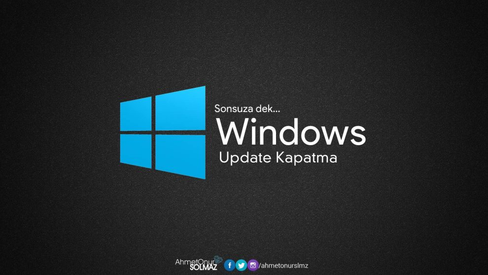 Windows Update kapatma